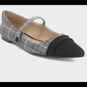 Who What Wear Nellie Pointed Toe Mary Jane Flats
